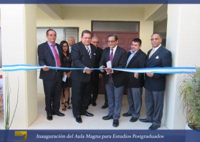 Inauguración del Aula Magna