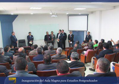 Inauguración del Aula Magna  ..